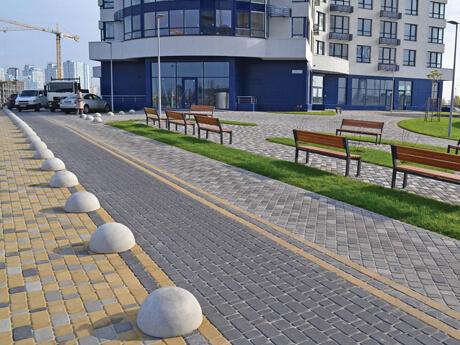 """Фото Тротуарна плитка Старе Місто Колір: Сірий від салону тротуарної плитки «Melius» у Вінниці. Тактильна тротуарна плитка """"Авеню"""""""