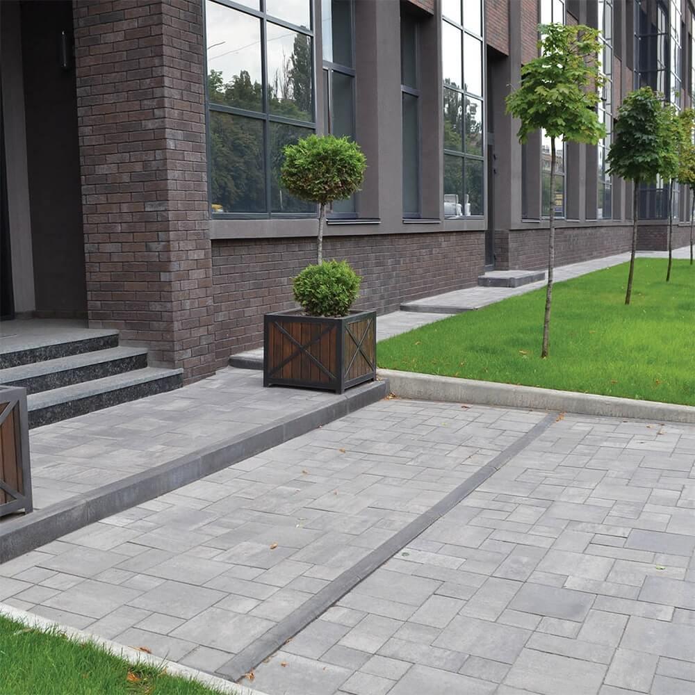 Фото Тротуарна плитка Лайнстоун-30 Колір: Сірий від салону тротуарної плитки «Melius» Вінниця