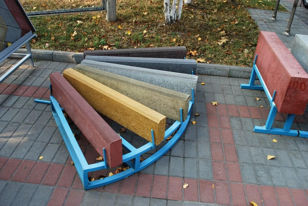 Бордюри. Фото кольори вуличних бордюрів. Салон тротуарної плитки «Melius» у Вінниці