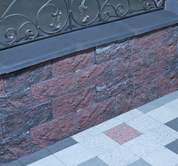 Фото облицювальної плитки на паркані. Салон тротуарної плитки «Melius» у Вінниці Фото