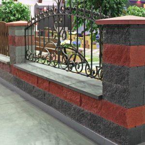 Фото Паркан із фасадною плиткою від салону тротуарної плитки «Melius» у Вінниці