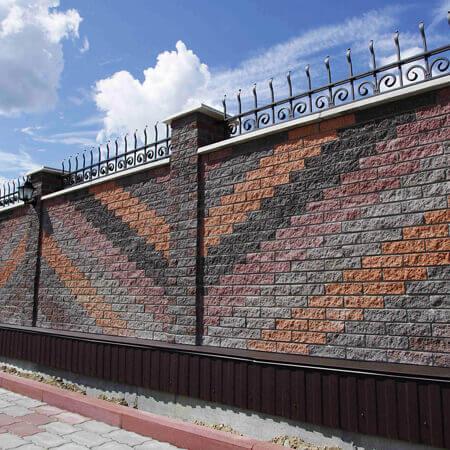 Фото Паркан від салону тротуарної плитки «Melius» у Вінниці