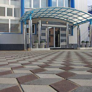 Тротуарна плитка Ромб Фото. Салон тротуарної плитки «Melius» у Вінниці Фото. Як вибрати тротуарну плитку для облаштування території біля офісу, магазину і кафе?