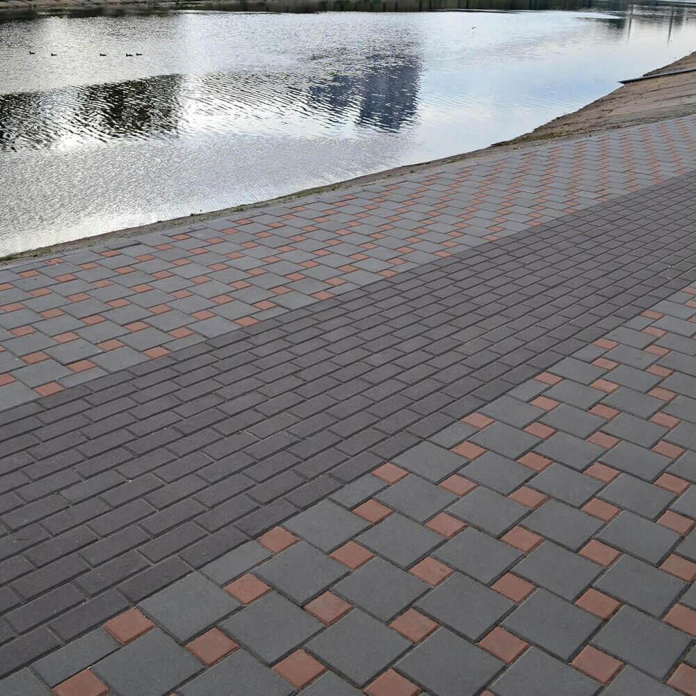 Фото Бруківка біля набережної від салону тротуарної плитки «Melius» у Вінниці