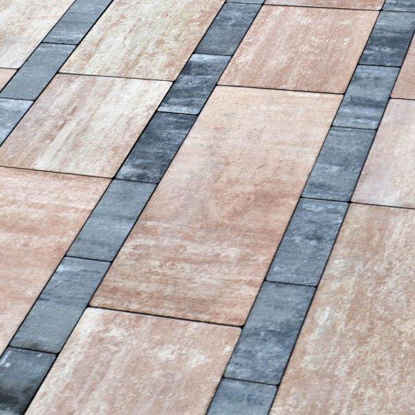 Фото Тротуарна плитка Лайнстоун-60 Колір: Терра від салону тротуарної плитки «Melius» Вінниця