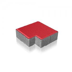 Фото Тротуарна плитка Пікассо Колір: Червоний від салону тротуарної плитки «Melius» Вінниця