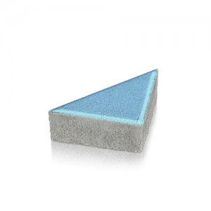 Тротуарна плитка Трикутник Колір: Синій від салону тротуарної плитки «Melius» у Вінниці Фото