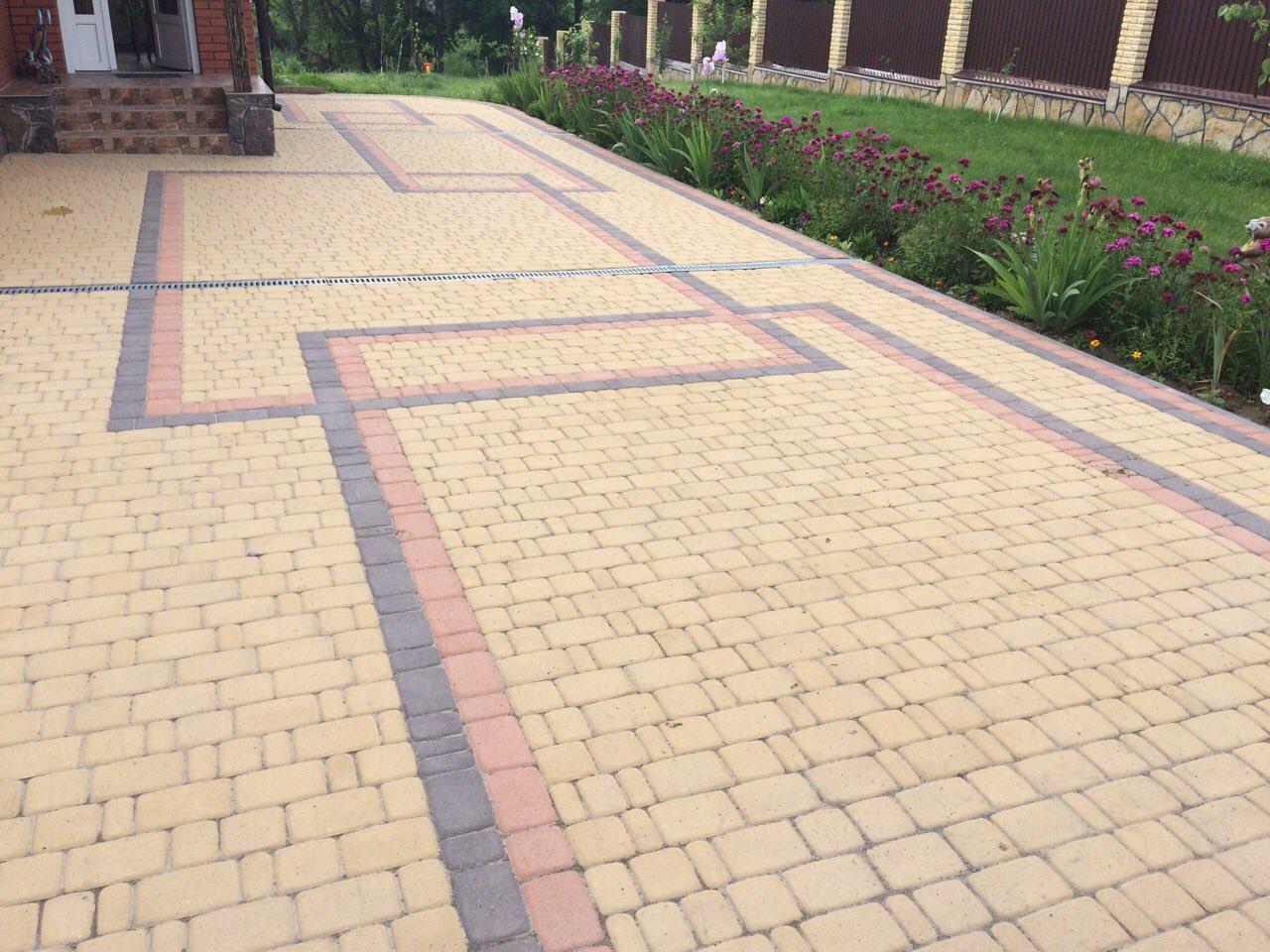 Оригинальная укладка тротуарной плитки от салона тротуарной плитки «Melius» Винница