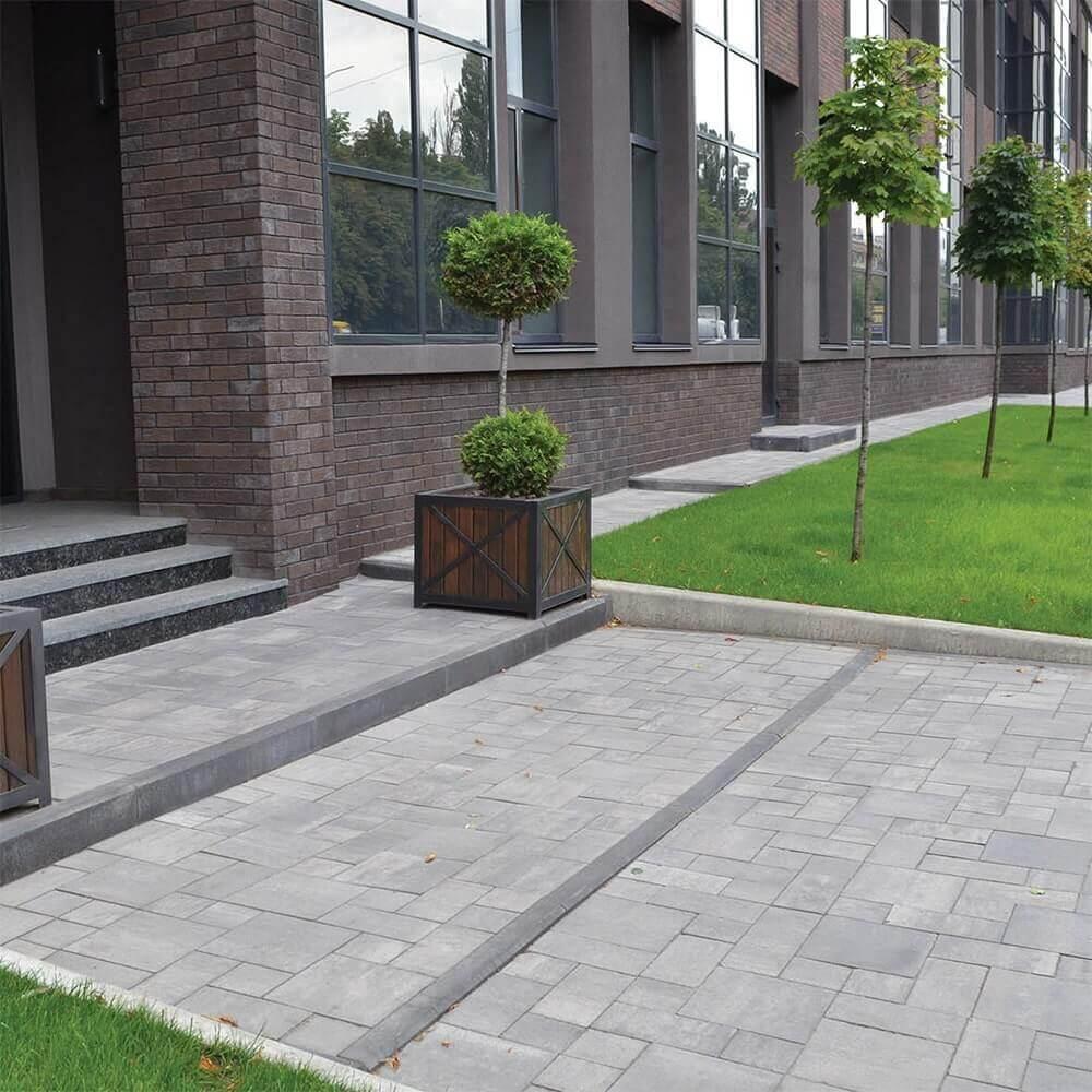 Серая тротуарная плитка от салона тротуарной плитки «Melius» Винница