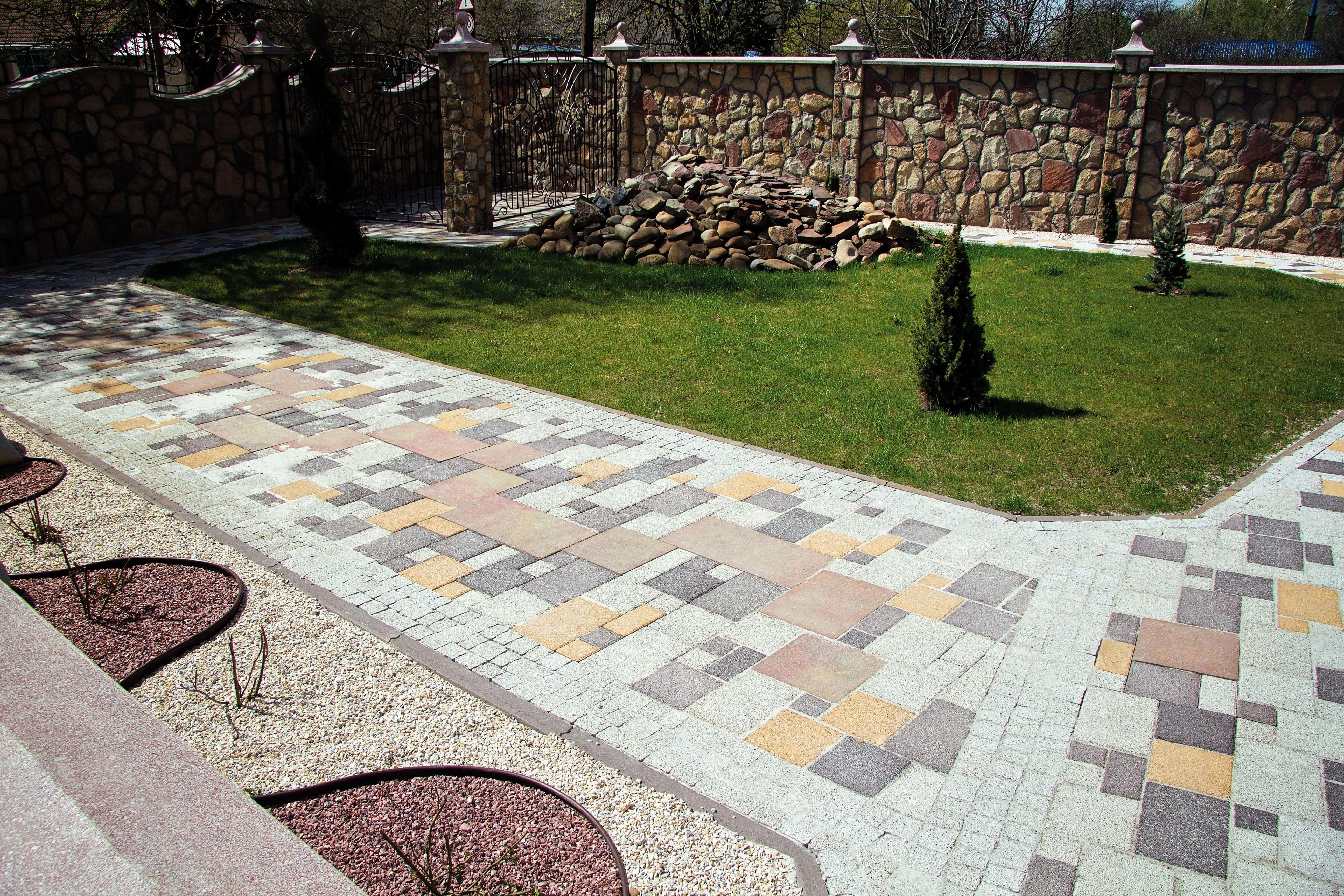 Варіанти укладки тротуарної плитки від салону тротуарної плитки «Melius» Вінниця
