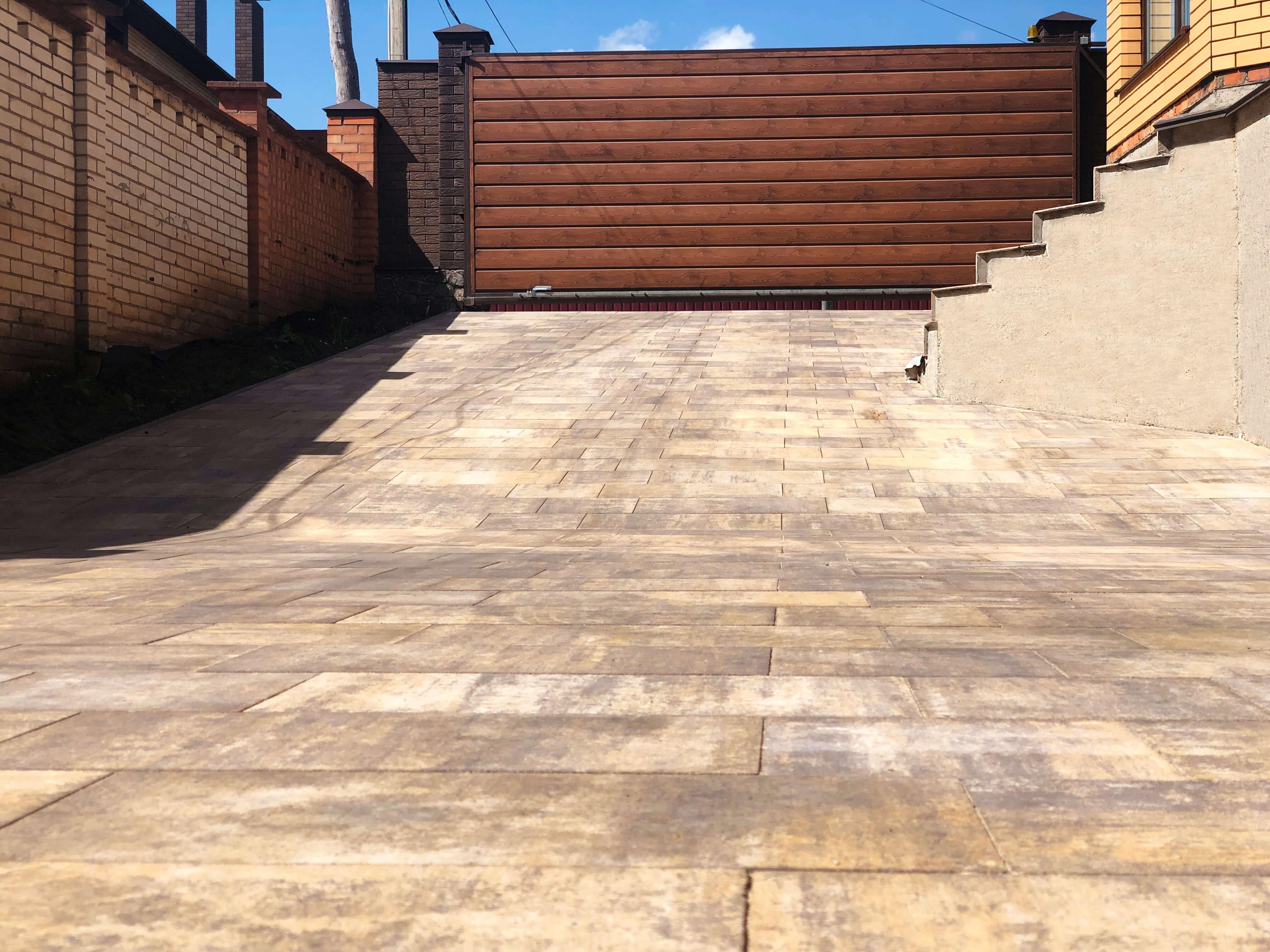 ландшафтний дизайн тротуарна плитка меліус
